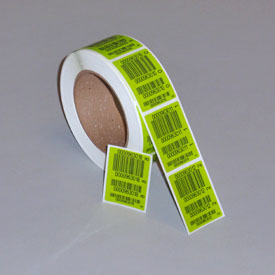 4 part barcode label
